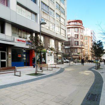 Urbanización y acondicionamiento peatonal calle Ángel Senra A Coruña (A Coruña)